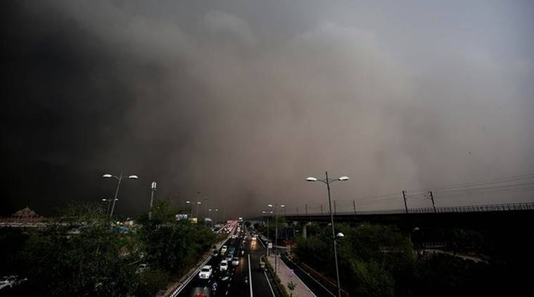 delhi weather, weather in delhi today, weather, delhi, rain, light rain, thunderstorm, delhi news, indian express news