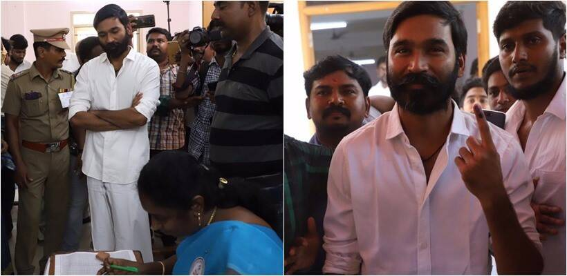 Dhanush after voting photos