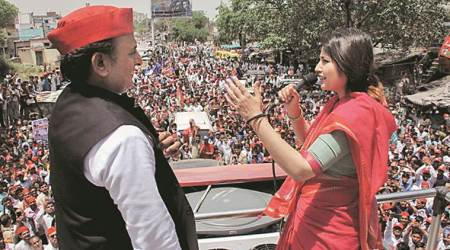 dimple yadav, dimple yadav kannauj, Akhilesh yadav, lok sabha elections, mayawati, elections 2019, india general elections, up elections, up alliances, elections news, latest news, indian express