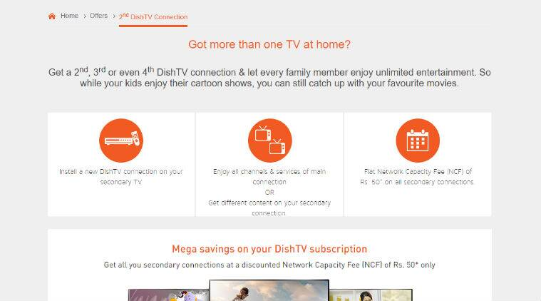 Dish TV Multi connection Plans, Price, Charges: Dish TV