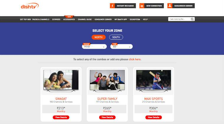 DishTV channel packs and plans under TRAI's new DTH