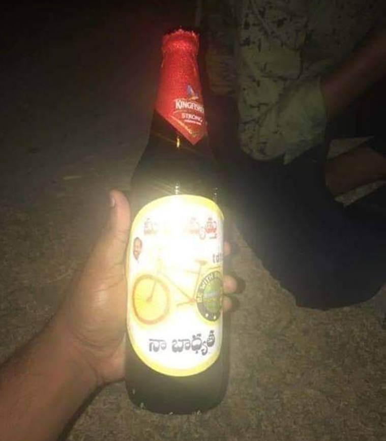 Elections 2019: In a first in Andhra and Telangana, liquor bottles carry party stickers