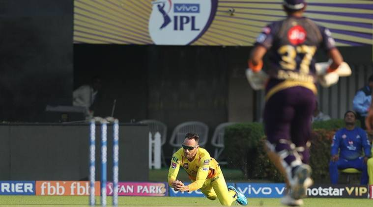 IPL 2019, KKR vs CSK: Sprinting du Plessis takes 'Faf'ulous catch to dismiss Robin Uthappa