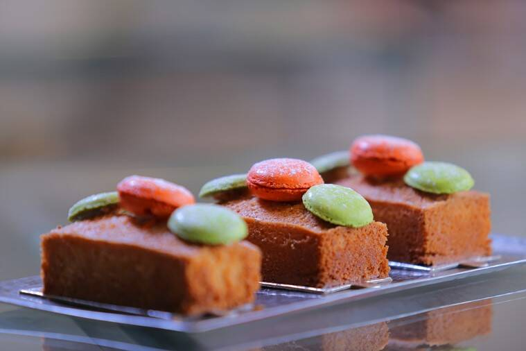 Financier with Orange Macaroon, dessert, dessert recipe, indian express, indian express news