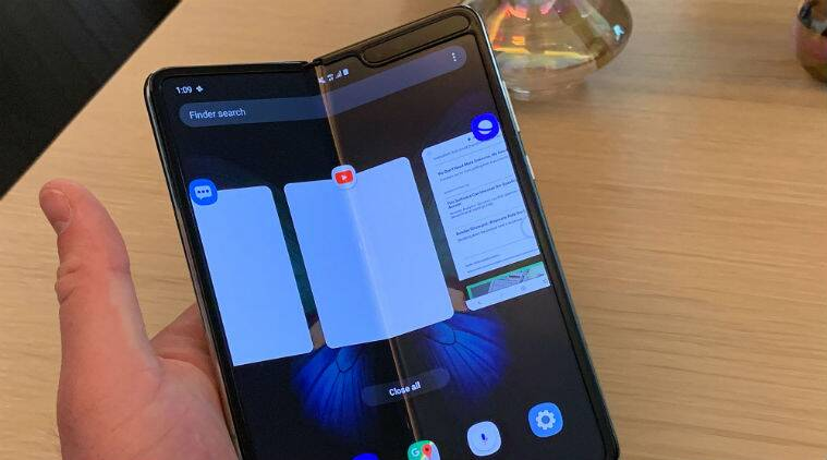 Image result for samsung foldable phone 2019