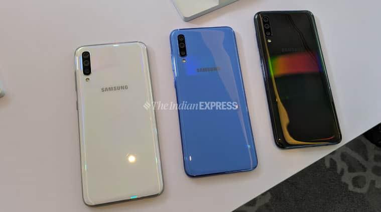 Galaxy A70 colour options