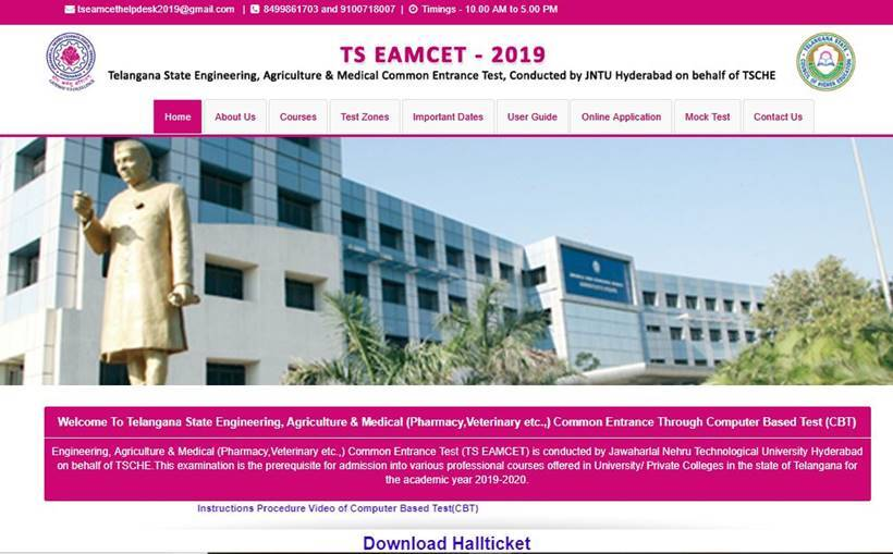 ts eamcet hall ticket, ts eamcet 2019 admit card, manabadi, ts eamcet hall ticket download, eamcet.tsche.ac.in, manabadi.com, ts eamcet exam date, ts eamcet 2019, eamcet exam dates, ts eamcet syllabus