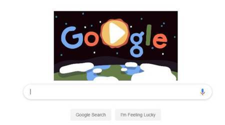google doodle, Earth DAY,google doodle on earth day, google celebrates earth day, google doodle celebrates earth day, annual arth day, google doodle today, google doodle april 22, indian express