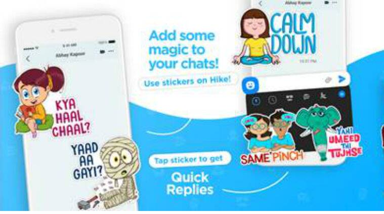 Hike sticker chat app launched with 30000 stickers in over 40 indian languages
