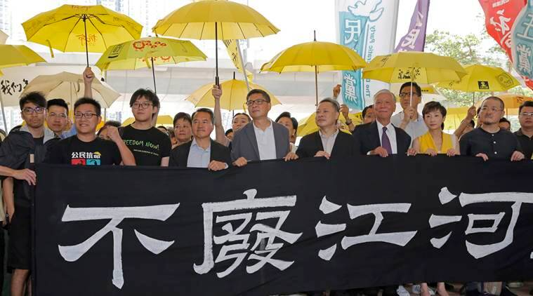 Occupy Central leaders before court hearing
