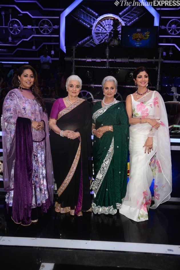 waheeda rehman and asha parekh on super dancer 3