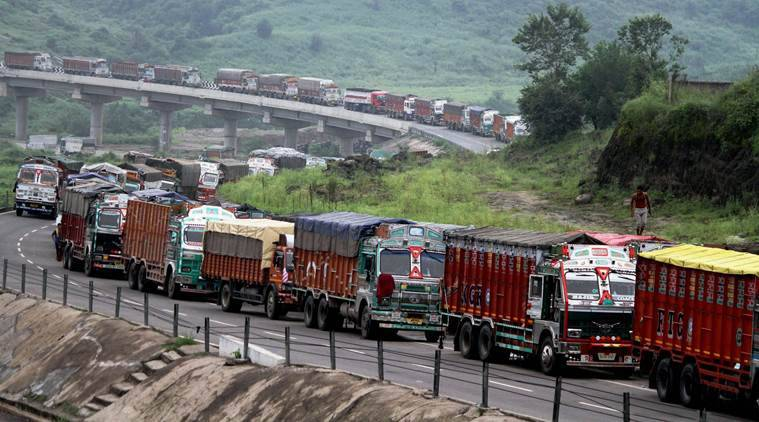 Jammu-Srinagar highway blocked due to landslides, over 3,000 vehicles stranded