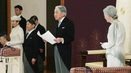 In final remarks, Japanese Emperor Akihito thanks the people, prays for peace