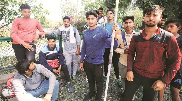 Neeraj Chopra, Neeraj Chopra javelin, Neeraj Chopra record, athletics, SAI centre Sonepat, javelin throwers, national javelin throw open championships, Athletics Federation of India, sports news, indian express