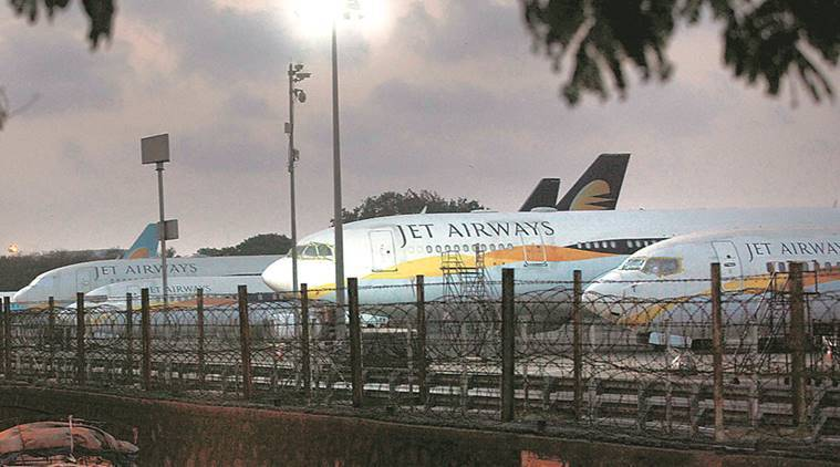 Jet airways, Jet airways stops operations, Jet airways stops services, Jet airways grounded, Jet airways shuts down, Jet airways downfall, Jet airways debt, Jet Airways last flight, Jet Airways crisis, indian express