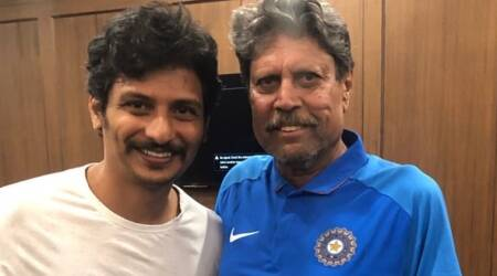 Jiiva fanboy moment with Kapil Dev