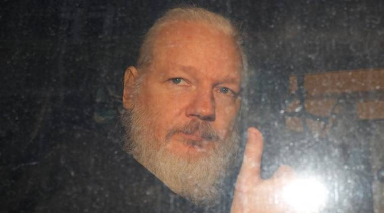 Julian Assange, Julian Assange arrested, WikiLeaks, Wikileaks Julian Assange arrested, Julian assange london, Julian Assange arrest video, Julian Assange ecuador, ecudor Julian assange, Julian Assange news, Julian assange arrest news, London news, Julian assange britain, britain julian assange, indian express, latest news