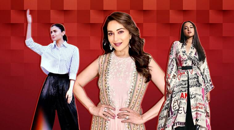 Kalank promotions: Alia Bhatt, Sonakshi Sinha and Madhuri Dixit give major fashion goals in these outfits; see pics