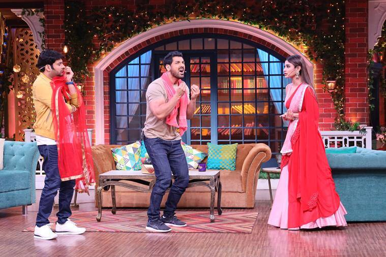 The Kapil Sharma Show preview: RAW actors John Abraham and Mouni Roy