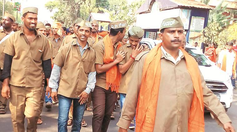 Dressed as chowkidars on way to a Modi rally
