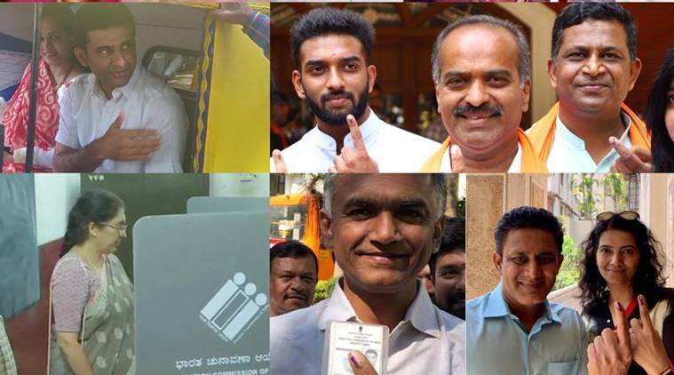 Karnataka-elections-vote-Voting Live News-celebrity-poiliticians-kumble-759