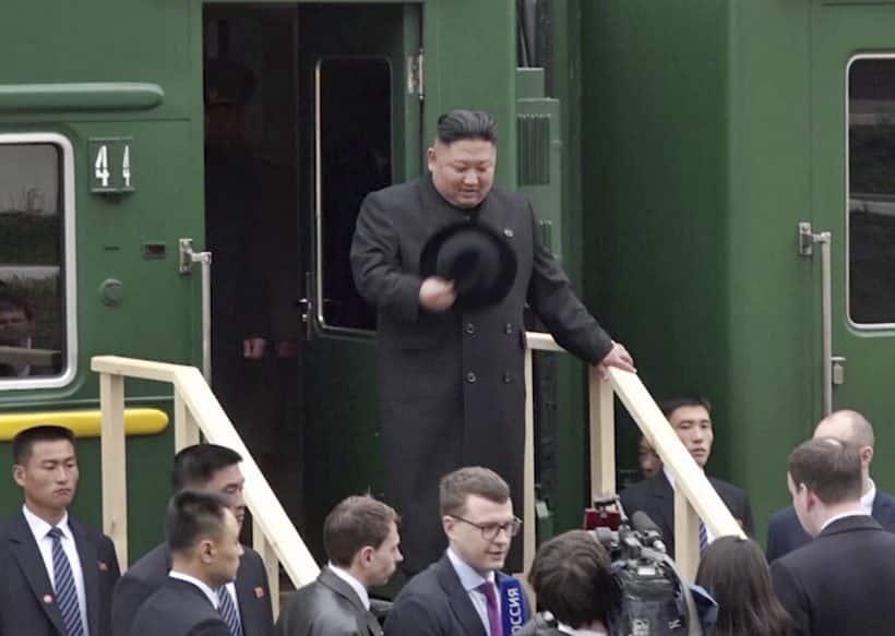 kim jong un in russia, kim jong summit with putin, russia president, vladimir putin, north korea, kim jong un russia photos, world news, indian express