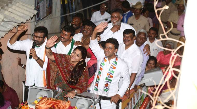 Congress leader Kushboo slaps youth during roadshow in Bengaluru