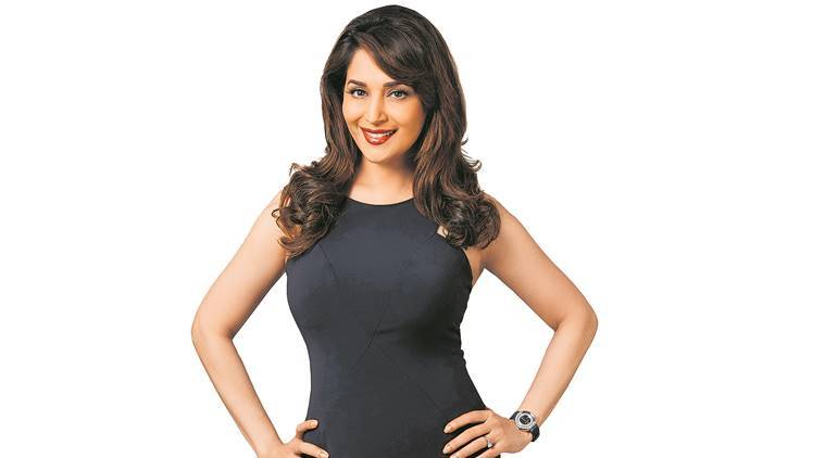 madhuri dixit, actor madhuri dixit, bollywood, film producer, august 15, movies, marathi movie, marathi movie august 15, mumbai, indian express news