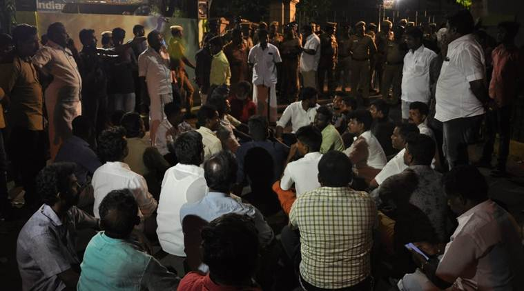 madurai protest election voting machine official suspended
