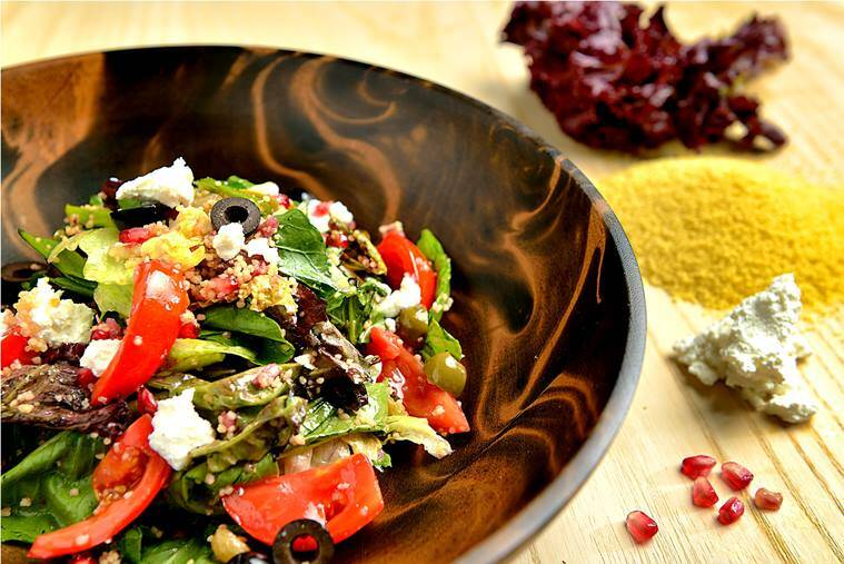 Maftoul Salad, salad, healthy food, recipe, indian express