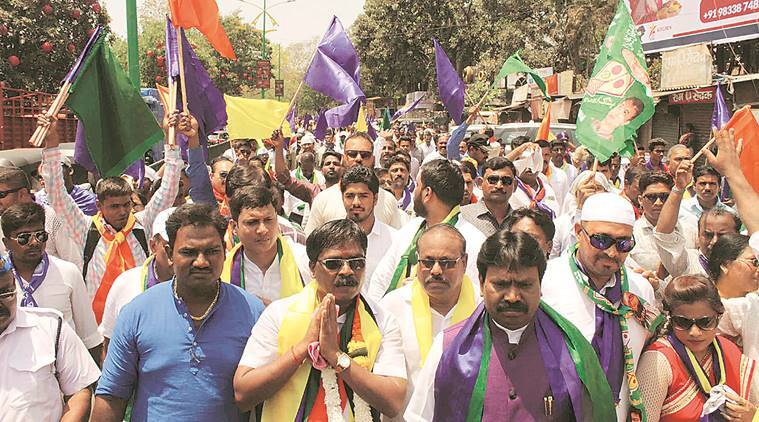 VBA's Mallikarjun Pujari files nomination from Thane