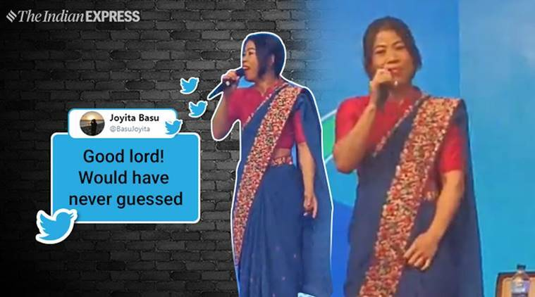 Mary Kom's powerful singing performance charms audience