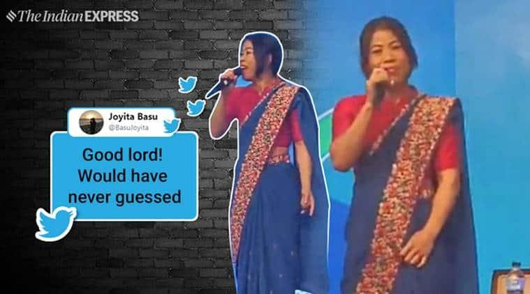 mary kom, mary kom singing, mary kom, 4 Non-Blondes, mary kom signing viral video, mary kom wins, mary kom singing viral video, indian express, indian express news