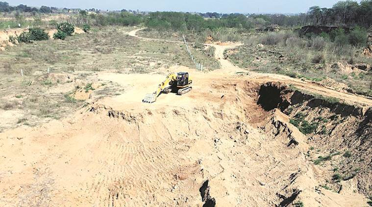 illegal mining, high court order, chandigarh, chandigarh news, derabassi, indian express
