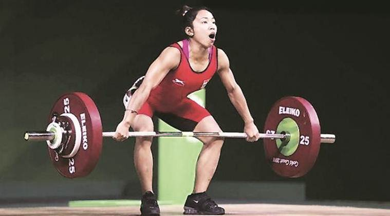 mirabai chanu, mirabai chanu record, mirabai chanu asian record, mirabai chanu india record, weightlifting record, sports news, indian express