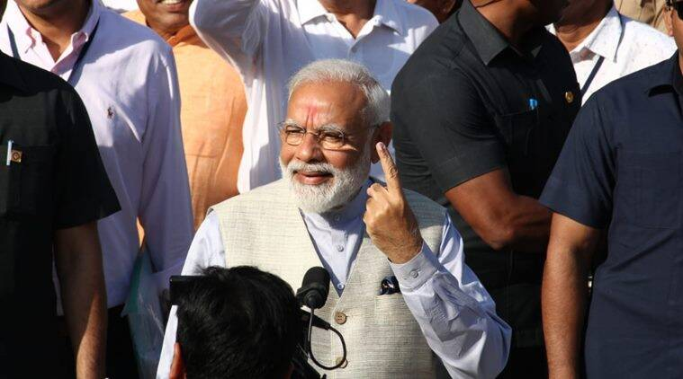 PM Modi casts his vote in Ahmedabad, says voter ID more powerful than IED