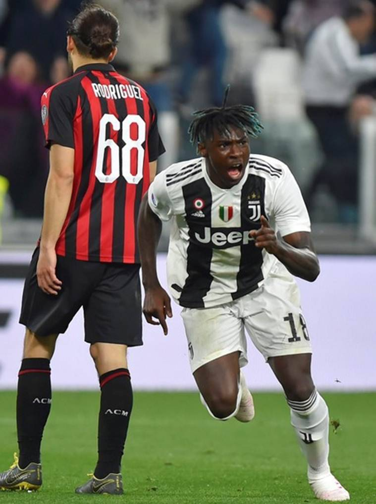 Moise Kean Scores To Leave Juventus Within One Win Of Serie A Title Sports News The Indian Express