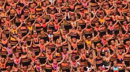 Konyak Naga women, Konyak Dance record, Konyak Dance guiness record, guiness world record dance, Nagaland world record, Naga women world record, North east news, indian express, latest news