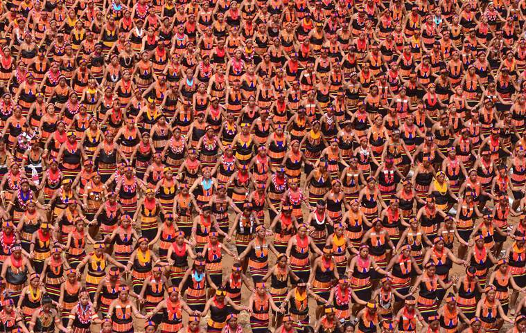 Konyak Naga women, Konyak Dance record, Konyak Dance guiness record, guiness world record dance, Nagaland world record, Naga women world record, North east news, indian express, latest news
