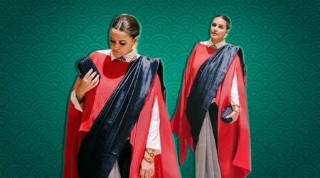 neha dhupia, neha dhupia sari, neha dhupia payal khandwala, neha dhupia latest look, indian express, indian express news