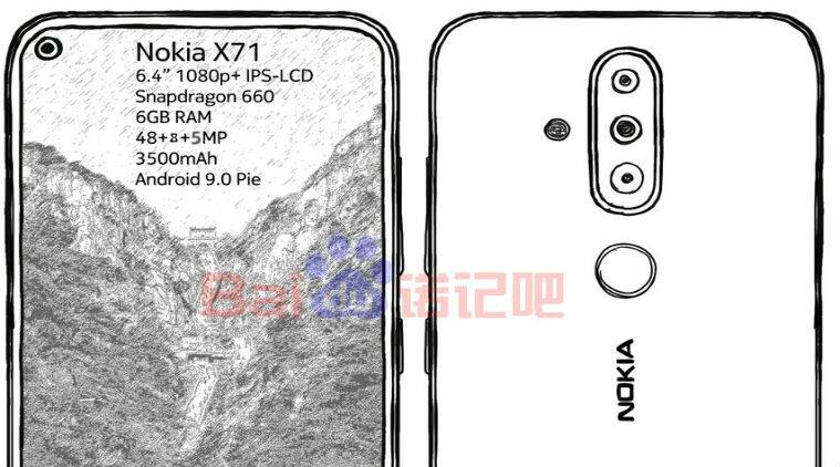 Nokia, Nokia X71,Nokia X71 price in India, Nokia X71 specifications, Nokia X71 features, Nokia 6.2, Nokia 8.1 Plus, Nokia X71 launch price