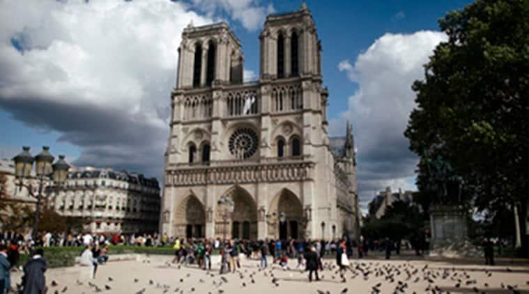 notre dame fire, notre dame cathedral, notre dame cathedral paris, france, emmanuel macron, world news, indian express news