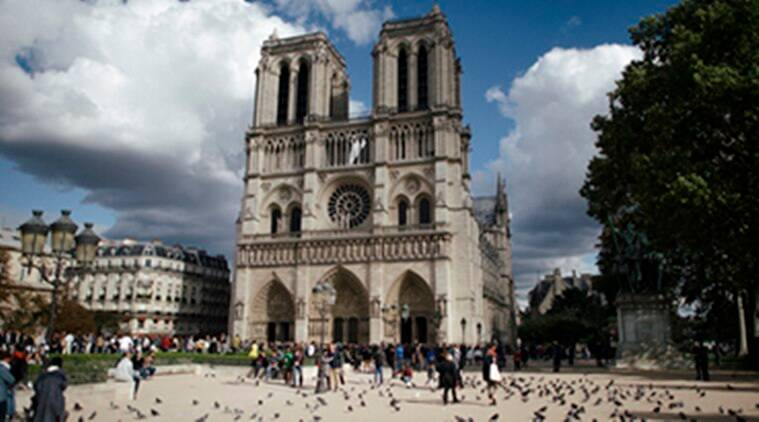 notre dame fire, notre dame cathedral, notre dame cathedral paris, france, emmanuel macron, world news, indian express news