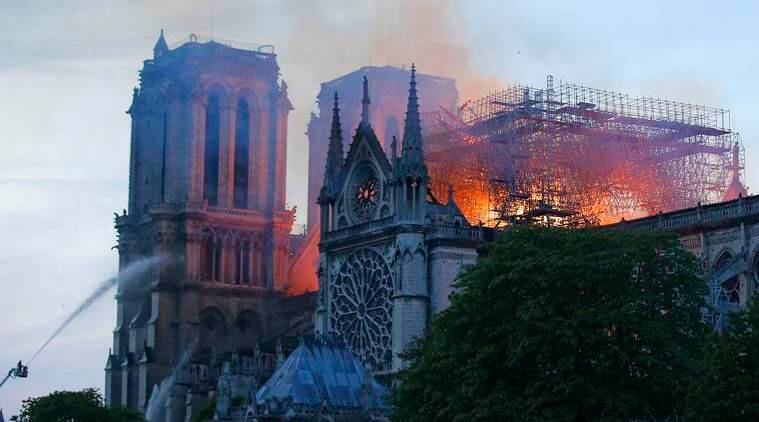 Fire guts Notre-Dame Cathedral in Paris, President Macron pledges to rebuild