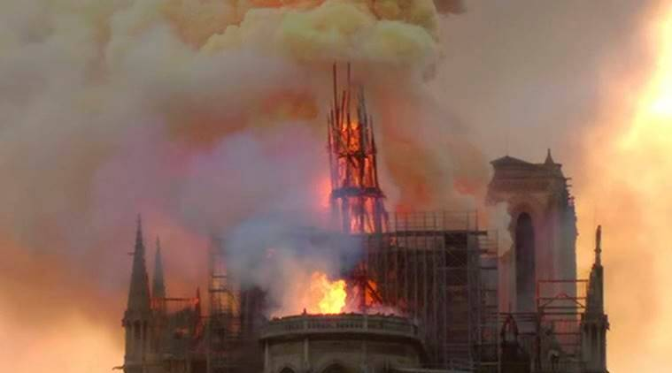 Time-lapse shots of Notre-Dame spire may offer clues on blaze