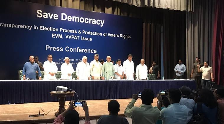 lok sabha elections 2019, lok sabha elections, opposition party presser, evm malfunction, evm issues, vvpat, congress, bjp, election news