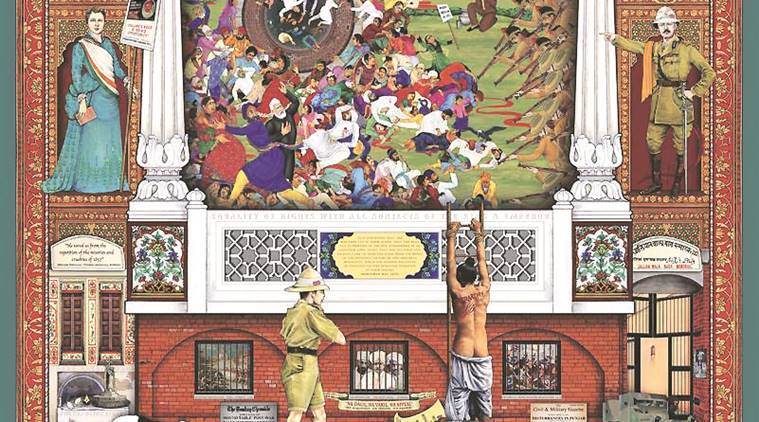 Painting a tragedy: Art piece depicting Jallianwala unveiled at UK museum