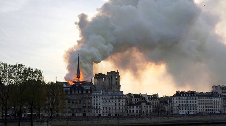 Fire breaks out at Paris' Notre Dame Cathedral