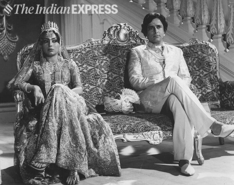 Parveen Babi and Shashi Kapoor