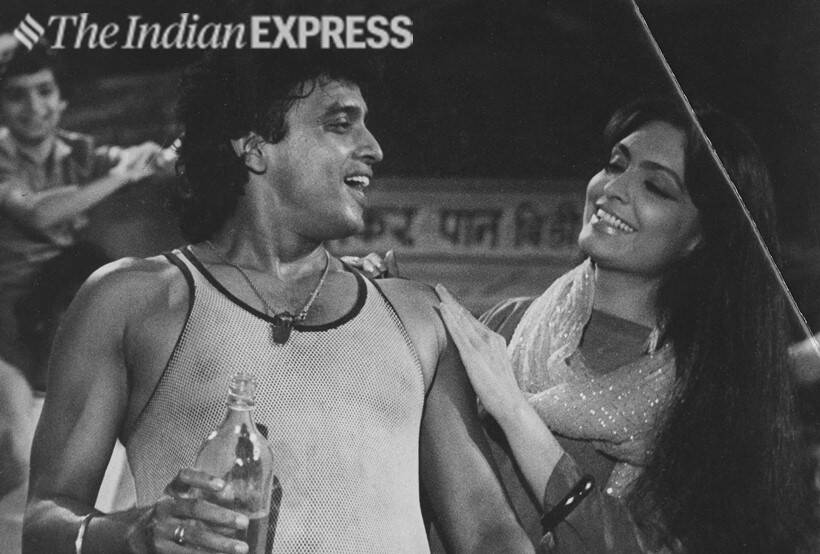 Mithun Chakraborty and Parveen Babi